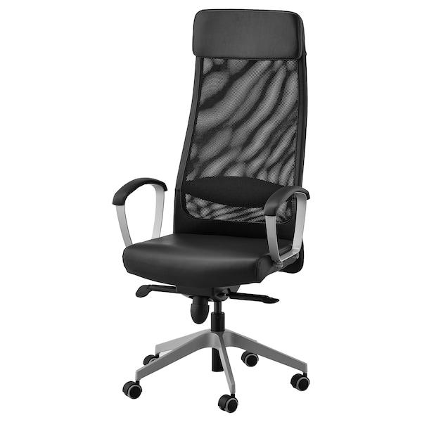 MARKUS silla de trabajo Glose negro 110 kg 62 cm 60 cm 129 cm 140 cm 53 cm 47 cm 46 cm 57 cm