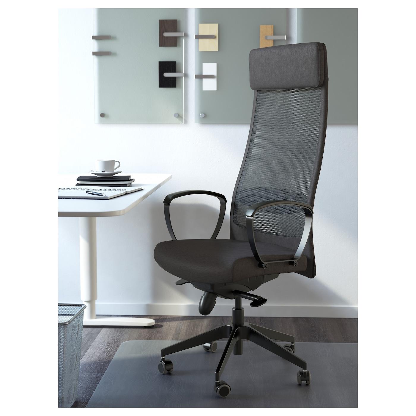 Markus silla giratoria vissle gris oscuro ikea - Sillas trabajo ikea ...