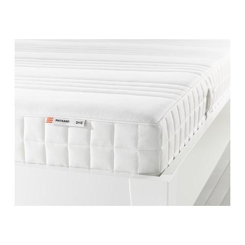 Matrand colch n de l tex 135x190 cm firmeza media blanco ikea - Colchon de latex precios ...