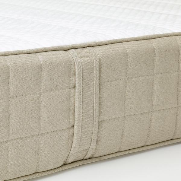MAUSUND Colchón de látex natural, Firmeza media natural, 140x200 cm