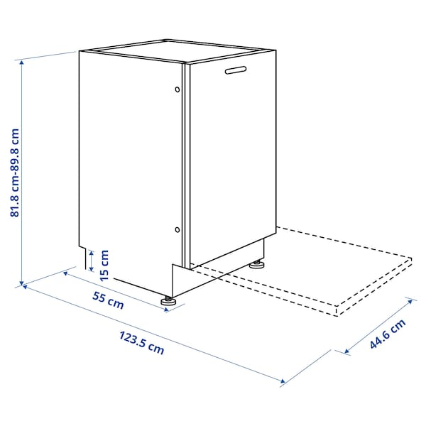 MEDELSTOR Lavavajillas integrado, IKEA 500, 45 cm