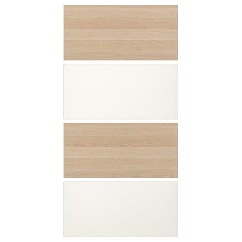 MEHAMN 4 pnl estr pt corr efecto roble tinte blanco/blanco 100 cm 201 cm 0.4 cm