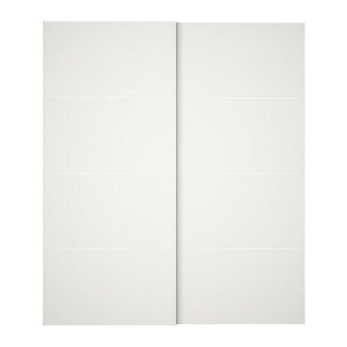 Mehamn puertas correderas 2 uds 200x236 cm dispositivo for Sistema puertas correderas ikea