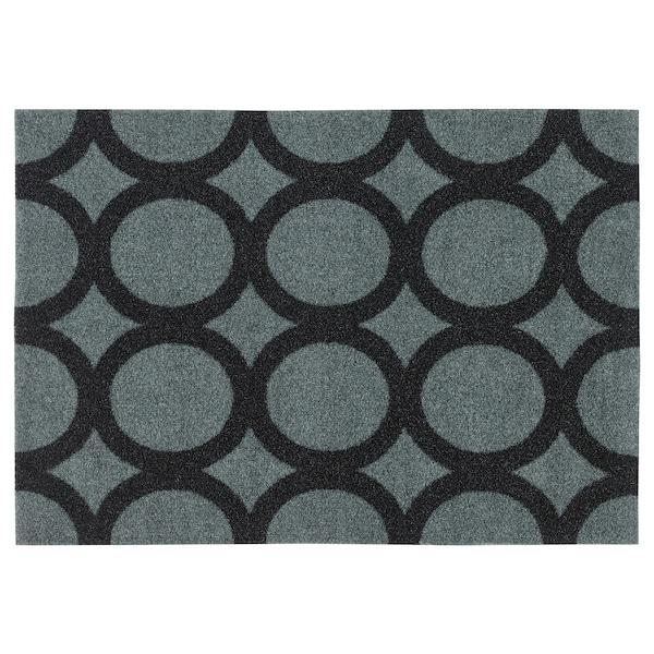 MEJLS felpudo con círculos gris/negro 60 cm 40 cm 6 mm 0.24 m² 1110 g/m² 450 g/m² 4 mm