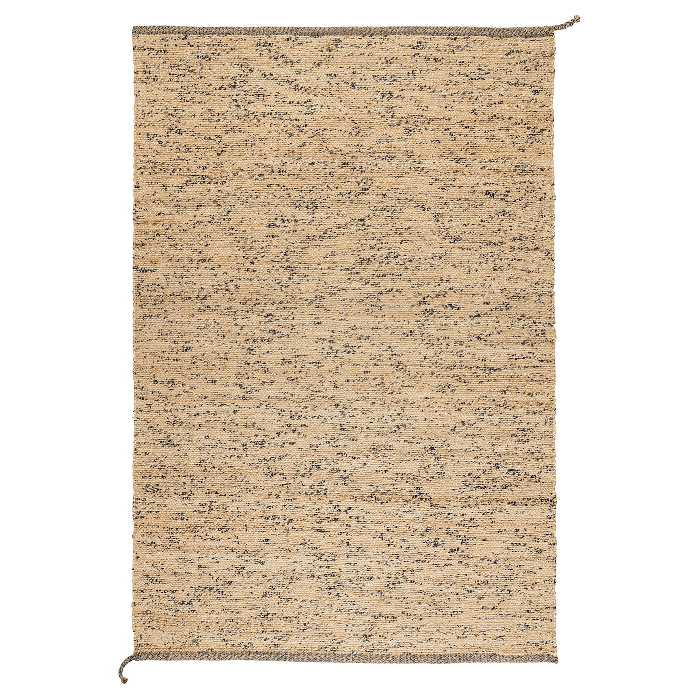 Melholt alfombra a mano natural azul oscuro 133 x 195 cm for Alfombras ikea