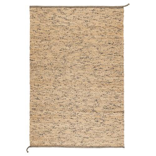 MELHOLT alfombra a mano natural/azul oscuro 195 cm 133 cm 5 mm 2.59 m² 2200 g/m²
