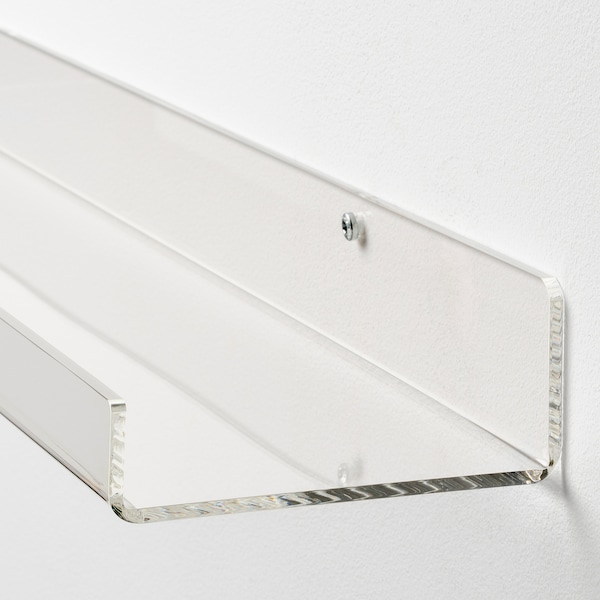 MELLÖSA Estante para cuadros, transparente, 60 cm