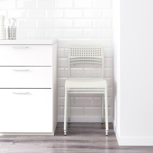 MELLTORP / ADDE Mesa con 4 sillas, blanco, 125 cm