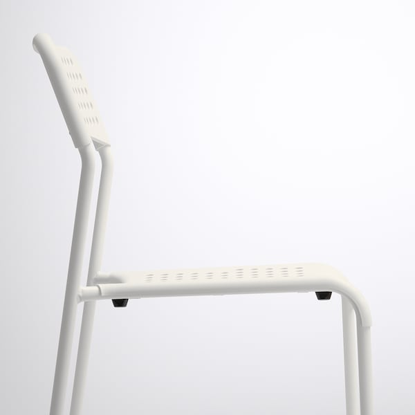 MELLTORP / ADDE Mesa y dos sillas, blanco, 75 cm