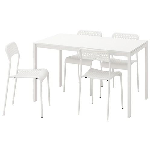 IKEA MELLTORP / ADDE Mesa con 4 sillas