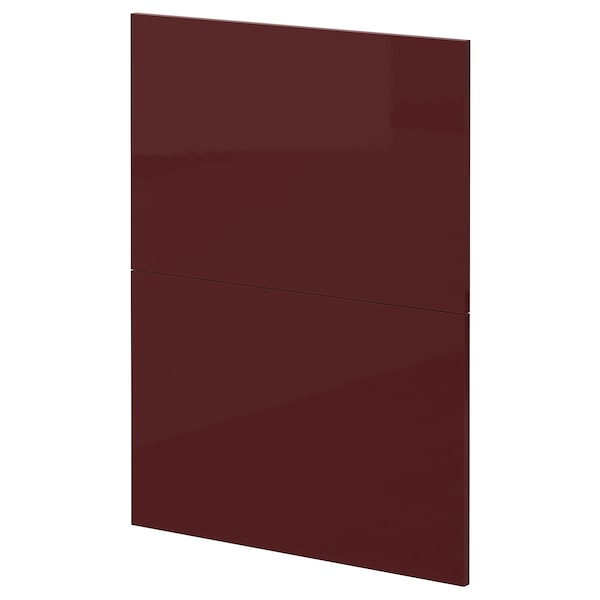 METOD 2 frentes lavavajillas, Kallarp alto brillo/marrón rojizo oscuro, 60 cm