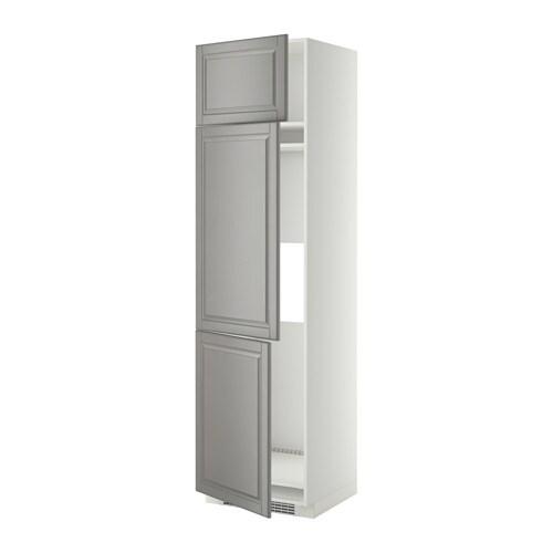 metod aa frigo 3p blanco bodbyn gris 60x60x220 cm ikea. Black Bedroom Furniture Sets. Home Design Ideas
