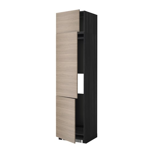 metod aa frigo 3p efecto madera negro brokhult efecto nogal gris claro 60x60x240 cm ikea. Black Bedroom Furniture Sets. Home Design Ideas