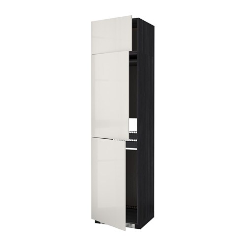 metod aa frigo 3p efecto madera negro ringhult alto brillo gris claro ikea. Black Bedroom Furniture Sets. Home Design Ideas
