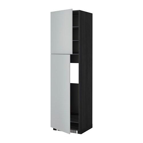 metod aa frigo 2pta efecto madera negro veddinge gris 60x60x220 cm ikea. Black Bedroom Furniture Sets. Home Design Ideas