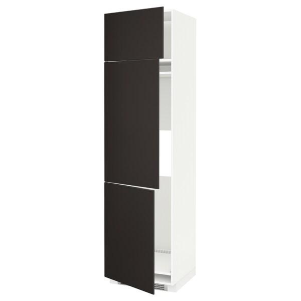 METOD Aafrigo/cong+3pt, blanco/Kungsbacka antracita, 60x60x220 cm