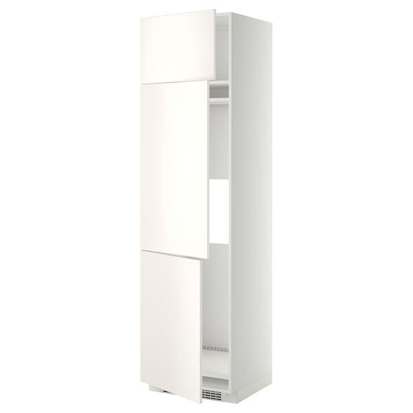 METOD Aafrigo/cong+3pt, blanco/Veddinge blanco, 60x60x220 cm