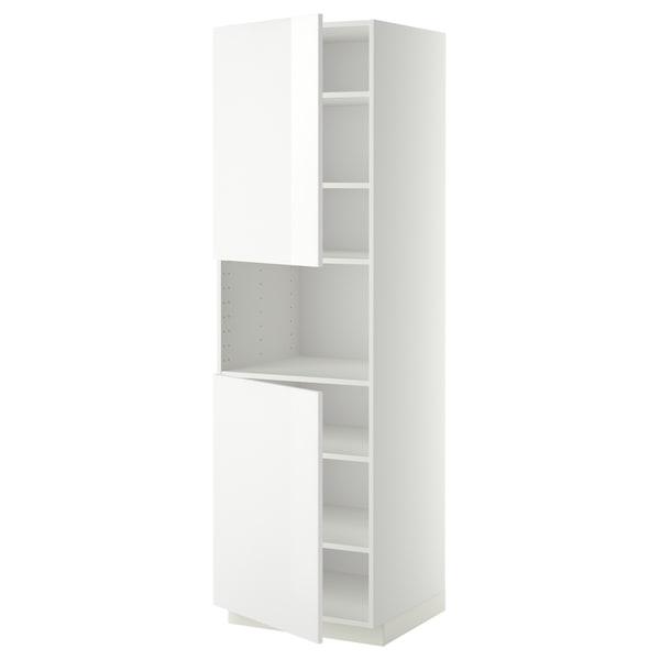 METOD Aamicro+2pt/bld, blanco/Ringhult blanco, 60x60x200 cm