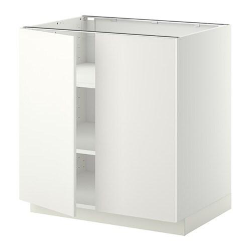 Metod ab 2p bld blanco h ggeby blanco 80x60 cm ikea for Meuble 80x80