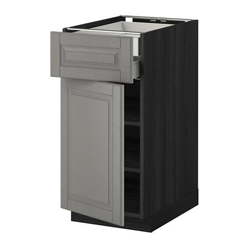 Metod ab 1p 1f 2c efecto madera negro bodbyn gris for Amortiguador armario cocina