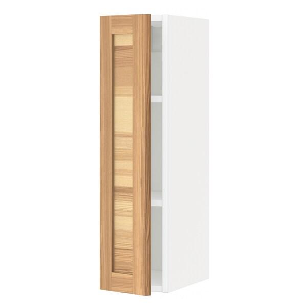 METOD Aprd+bld, blanco/Torhamn fresno, 20x80 cm