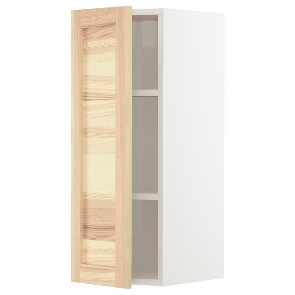 METOD Aprd+bld, blanco/Torhamn fresno, 30x80 cm