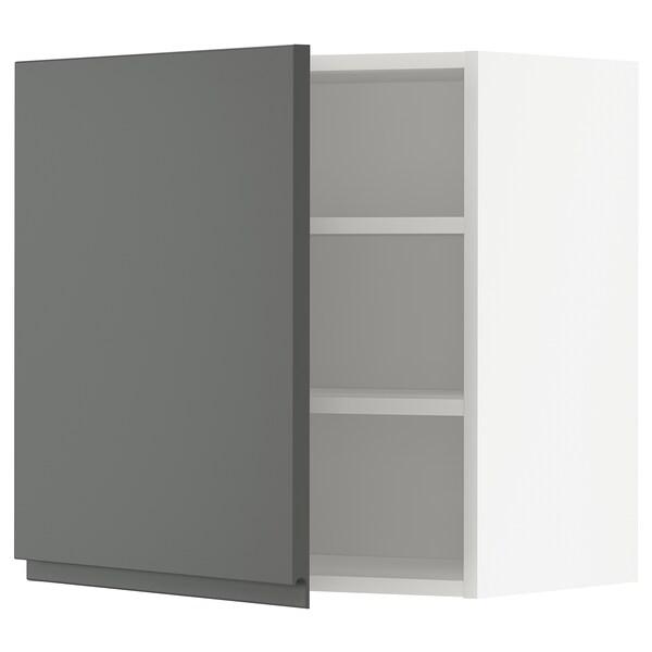 METOD Aprd+bld, blanco/Voxtorp gris oscuro, 60x60 cm