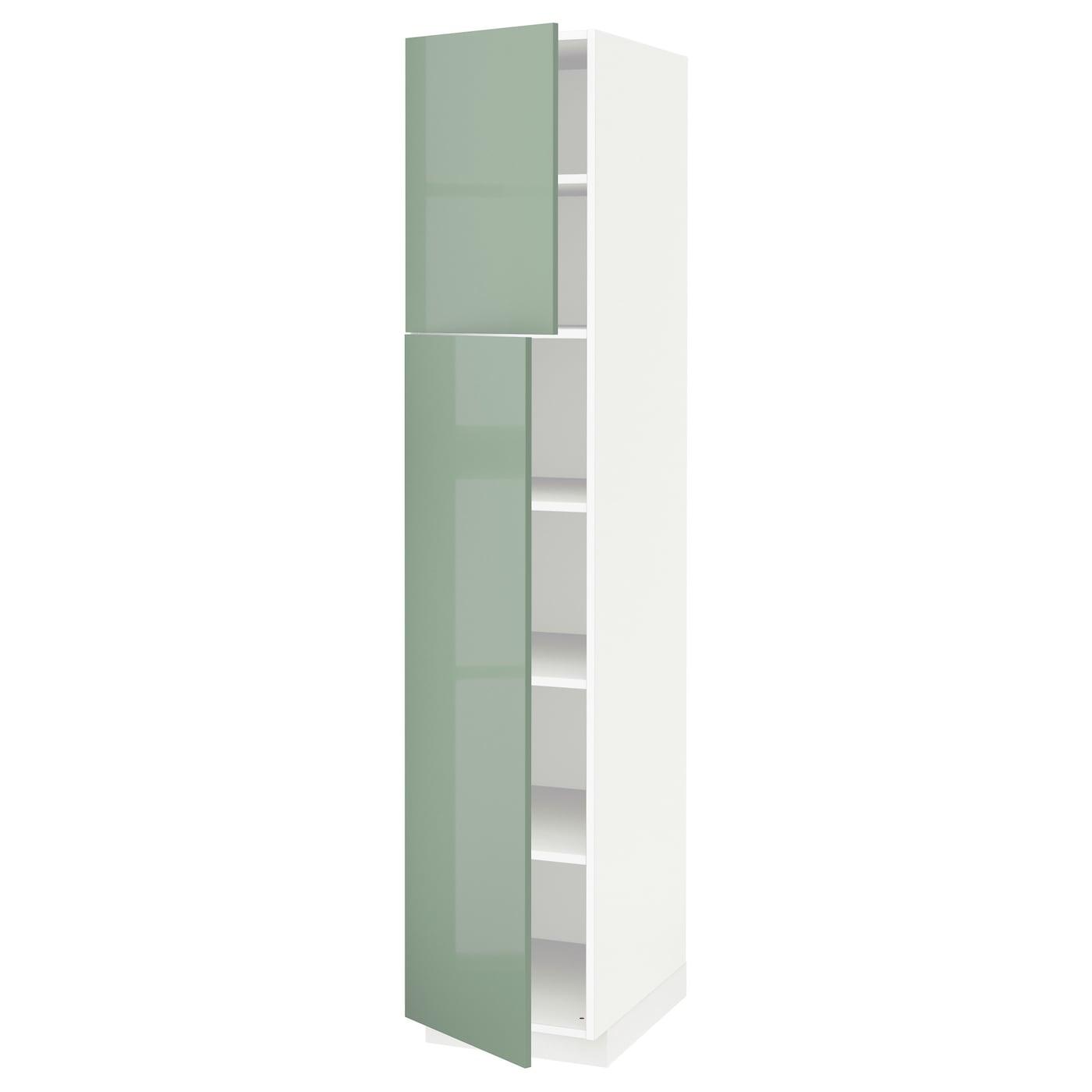 Metod armario alto cocina baldas puertas blanco kallarp verde claro 40 x 60 x 200 cm ikea - Armarios de cocina ikea ...