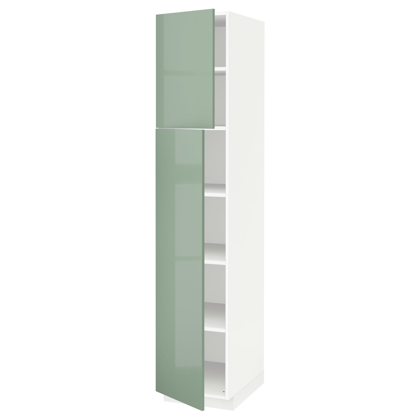 Metod armario alto cocina baldas puertas blanco kallarp Puertas de cocina ikea