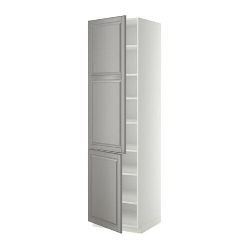 Metod armario alto cocina baldas puertas blanco bodbyn - Ikea armarios cocina ...