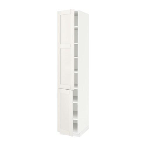 Puerta Armario Cocina Ikea : Metod armario alto cocina baldas puertas blanco s?vedal