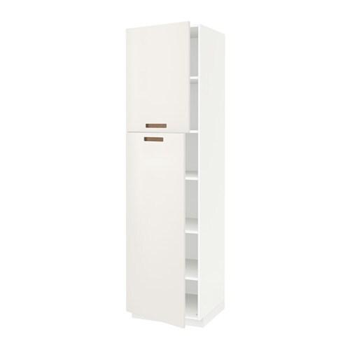 Metod armario alto cocina baldas puertas blanco m rsta for Ikea baldas cocina