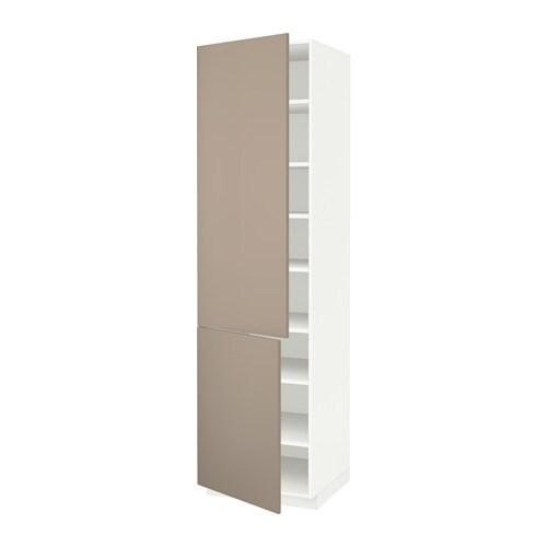 Metod armario alto cocina baldas puertas blanco ubbalt for Ikea baldas cocina