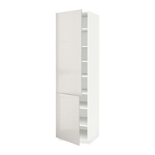 Puerta Armario Cocina Ikea : Metod armario alto cocina baldas puertas blanco