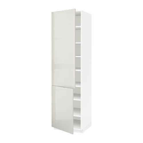 Metod armario alto cocina baldas puertas blanco - Armarios de cocina altos ...