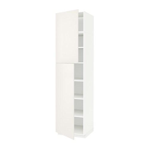 Metod armario alto cocina baldas puertas veddinge blanco for Ikea armarios cocina altos