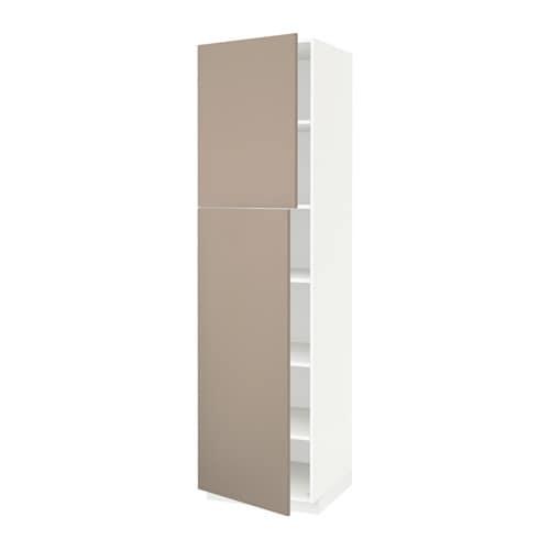 Metod armario alto cocina baldas puertas blanco ubbalt - Puertas armario cocina ...