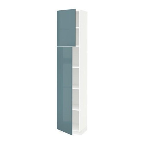 Metod armario alto cocina baldas puertas blanco kallarp for Ikea armarios cocina altos