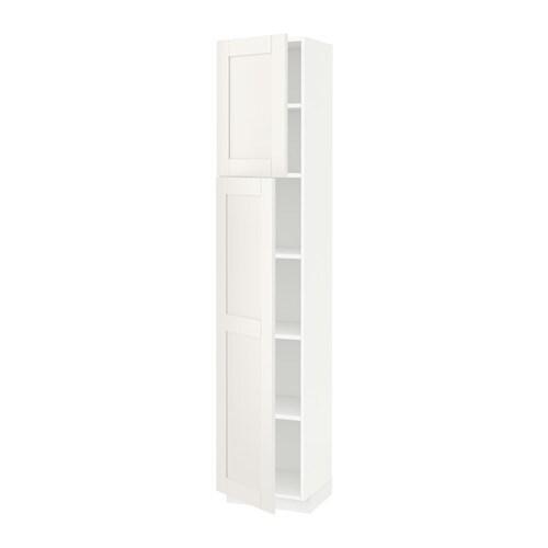Metod armario alto cocina baldas puertas s vedal blanco for Ikea armarios cocina altos