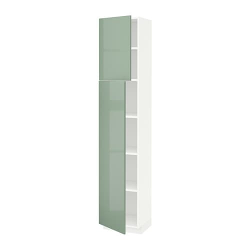 Metod armario alto cocina baldas puertas blanco kallarp for Ikea baldas cocina