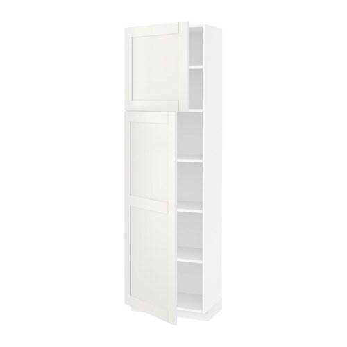 Metod armario alto cocina baldas puertas blanco s vedal - Cocina armario ikea ...