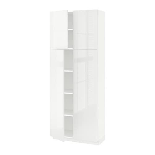Metod armario alto cocina baldas puertas ringhult alto brillo blanco 80x37x200 cm ikea - Armarios de cocina ikea ...