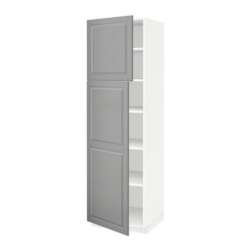 Metod armario alto cocina baldas puertas blanco bodbyn - Cocina armario ikea ...