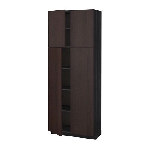 Metod armario alto cocina baldas puertas efecto madera - Puerta cocina ikea ...