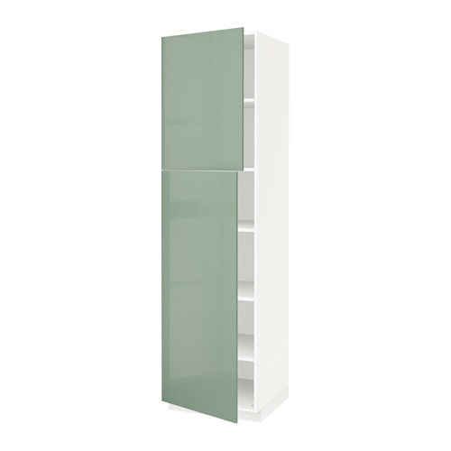 Metod armario alto cocina baldas puertas blanco kallarp - Baldas armario ikea ...