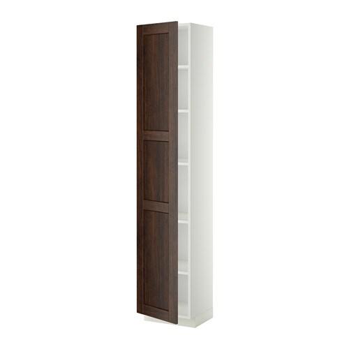 Metod armario alto cocina con baldas blanco edserum for Ikea armarios cocina altos