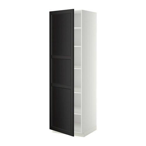 Metod armario alto cocina con baldas blanco laxarby for Ikea armarios cocina altos