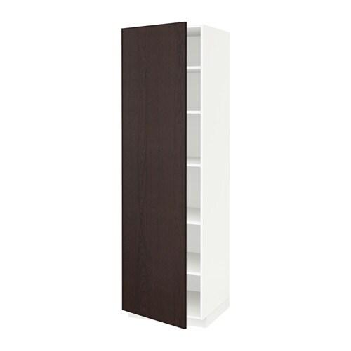 Metod armario alto cocina con baldas blanco ekestad for Ikea armarios cocina altos