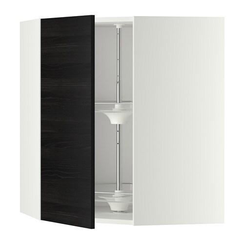 Adesivo De Flamingo ~ METOD Armario alto de esquina, giratorio blanco, Tingsryd efecto madera negro, 68×80 cm IKEA