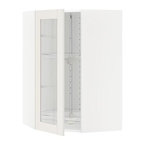 Armarios Fernando Tatuape ~ METOD Armario alto esquina giratorio vidr blanco, Sävedal blanco, 68×100 cm IKEA